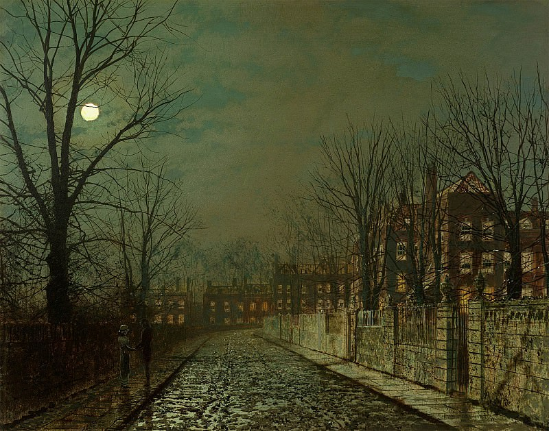 John Atkinson Grimshaw The Trysting Tree 30770 20. часть 3 -- European art Европейская живопись