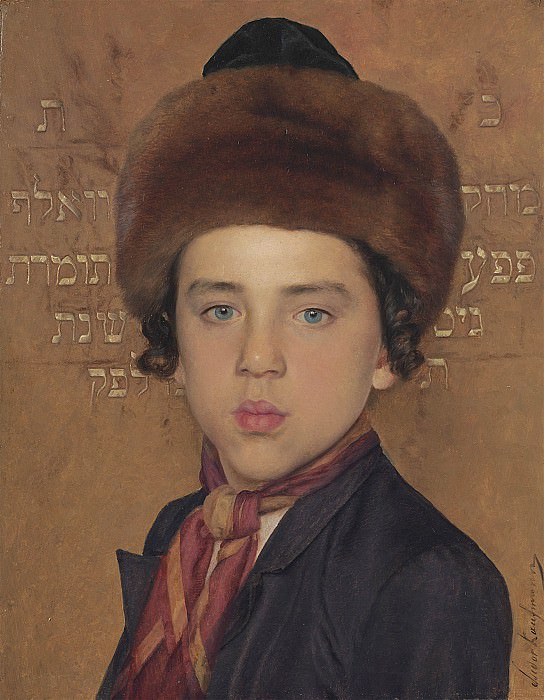 Isidor Kaufmann Portrait of a boy 40222 20. часть 3 -- European art Европейская живопись