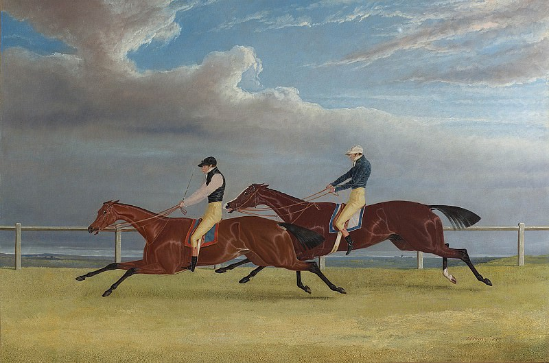 John Frederick Herring Snr Matilda and Mameluke; The Finish of the 1827 St Leger 28345 20. часть 3 -- European art Европейская живопись