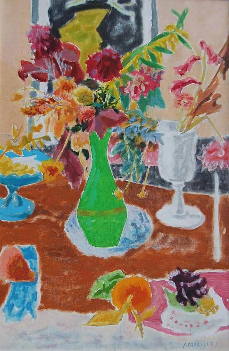 JEAN JULES LOUIS CAVAILLES Le vase vert 32462 1184. часть 3 - европейского искусства Европейская живопись