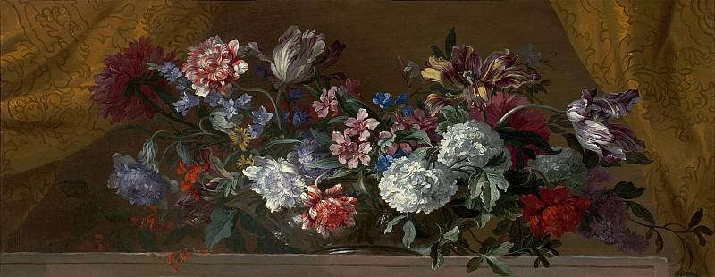 Jean Baptiste Monnoyer Flowers in glass vase 99559 20. часть 3 -- European art Европейская живопись