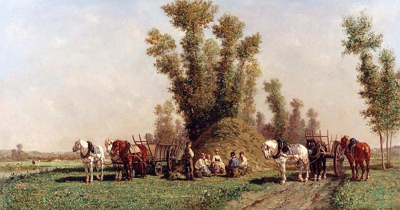 Jules Jacques Veyrassat Haymakers Resting 12291 2426. часть 3 - европейского искусства Европейская живопись