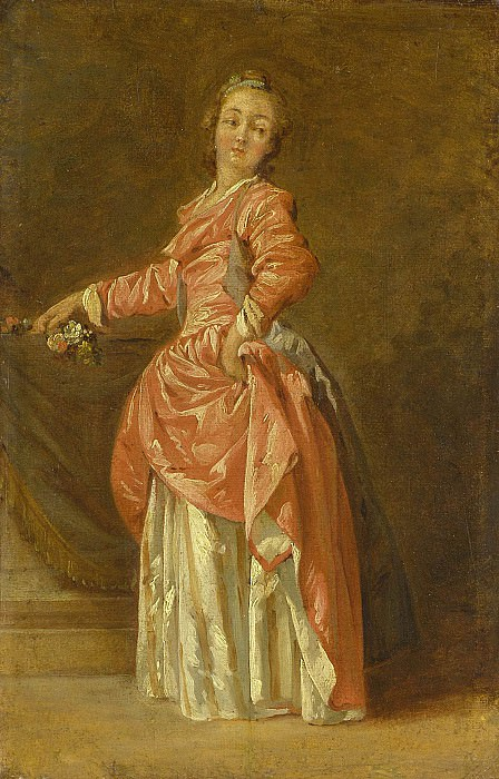 Jean Baptiste le Prince A lady in a red dress in an interior 46499 172. часть 3 -- European art Европейская живопись