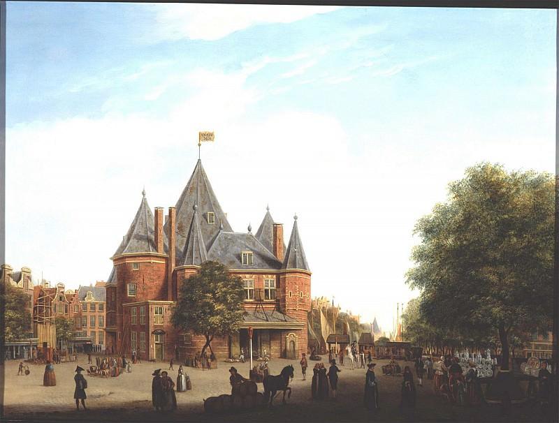 Jan Ekels the Elder View of the Nieuwmarkt with the Waag Amsterdam 79899 276. часть 3 -- European art Европейская живопись