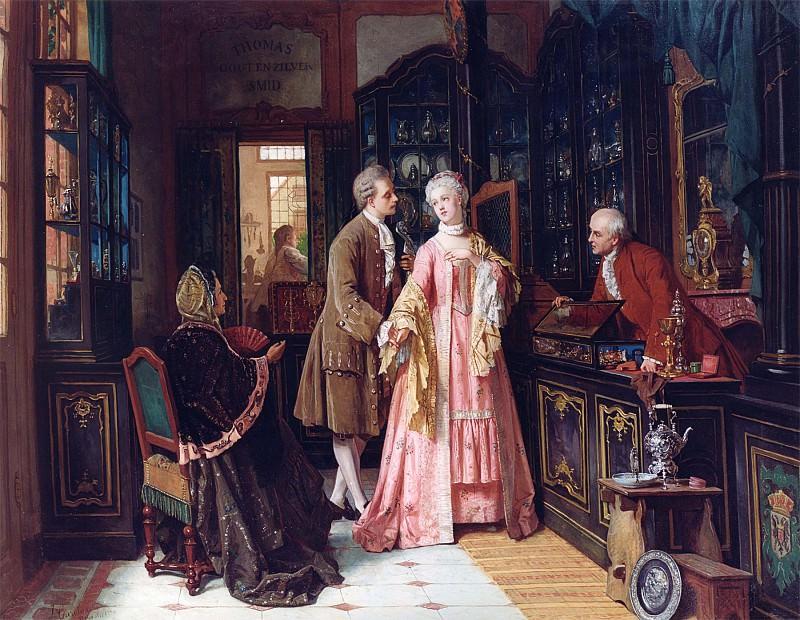 Jean Carolus Choosing the Ring 11981 2426. часть 3 -- European art Европейская живопись