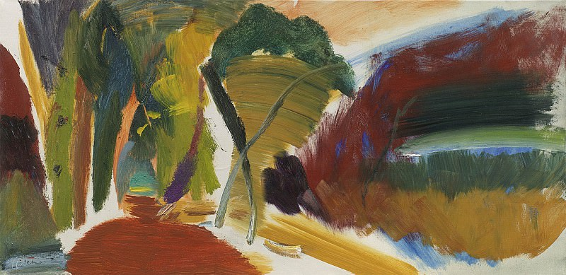 Ivon Hitchens Forest by open space 32873 20. часть 3 -- European art Европейская живопись