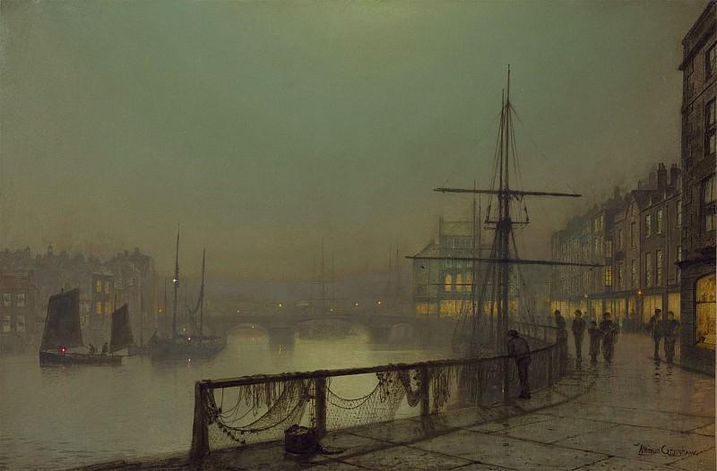 John Atkinson Grimshaw Whitby 122376 20. часть 3 -- European art Европейская живопись
