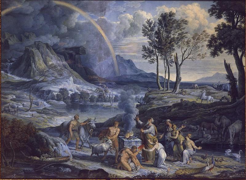 Joseph Anton Koch Noahs Sacrifice 18611 172. часть 3 - европейского искусства Европейская живопись