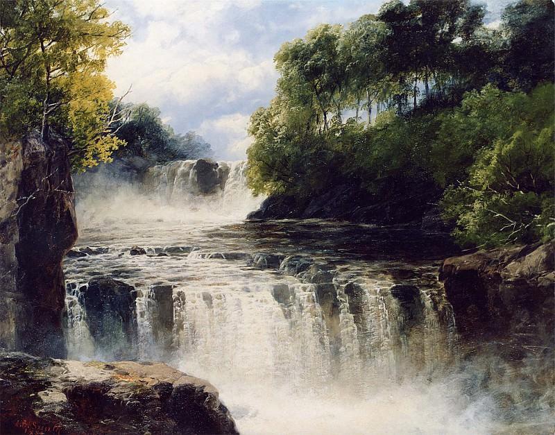 John Brandon Smith The Swallow Falls North Wales 12256 2426. часть 3 -- European art Европейская живопись