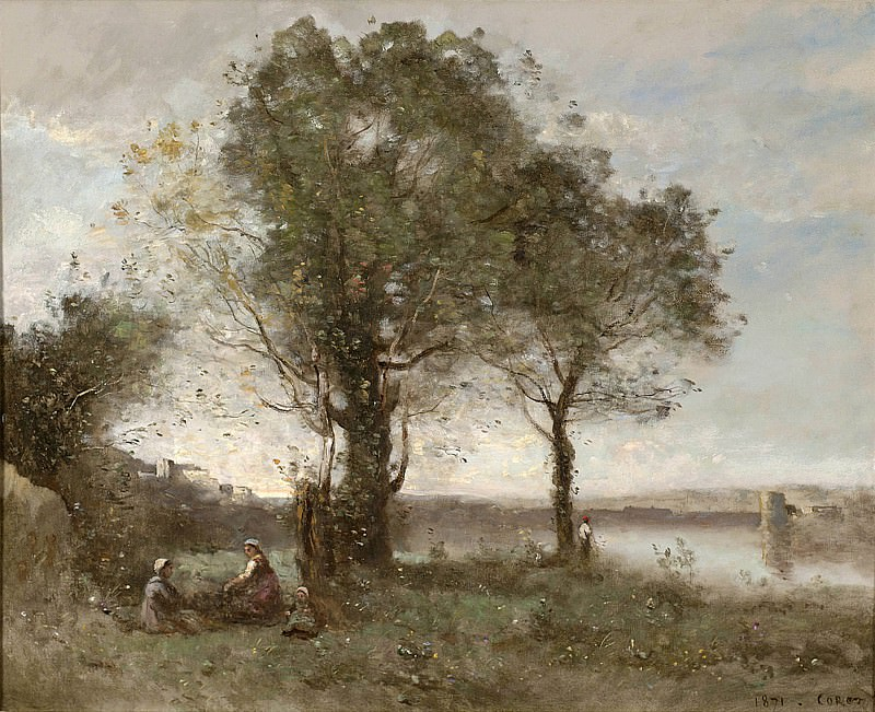 "Jean Baptiste Camille Corot BrГ""me matinale au marais 28232 20. часть 3 -- European art Европейская живопись"
