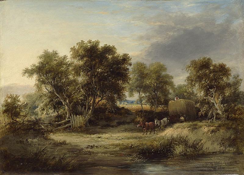 James Stark A full loaded hay wain in a summer lane 28622 20. часть 3 - европейского искусства Европейская живопись