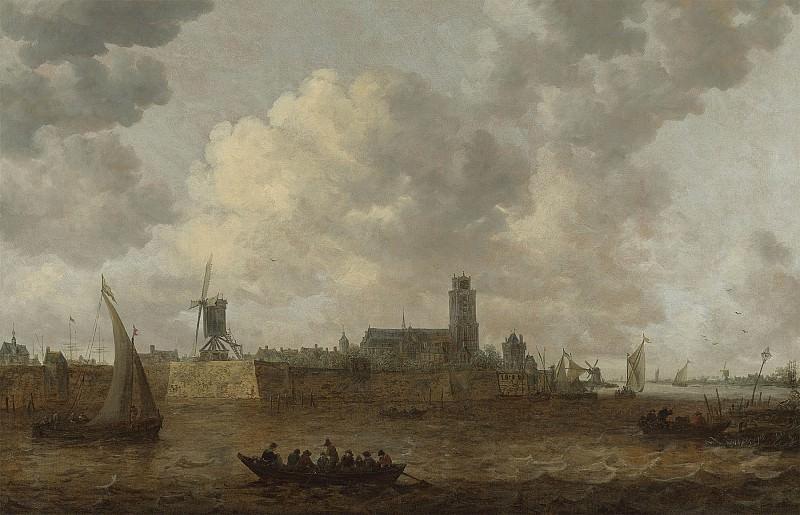 Jan van Goyen A view of Dordrecht 98519 20. часть 3 -- European art Европейская живопись