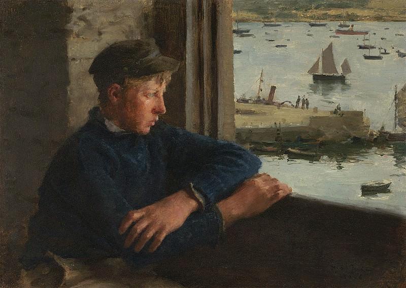 Henry Scott Tuke The Look out 30315 20. часть 3 - европейского искусства Европейская живопись