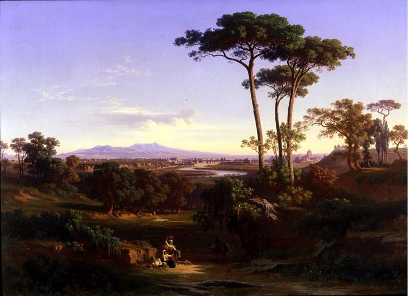 JOHANN JAKOB FREY View of Rome from Monte Mario 11705 172. часть 3 - европейского искусства Европейская живопись