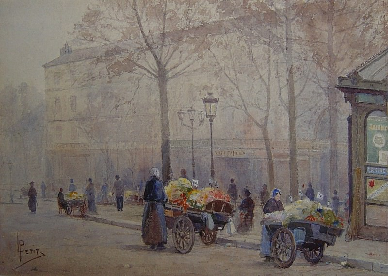 Louis PETIT Costermongers in Paris 90036 121. часть 3 -- European art Европейская живопись