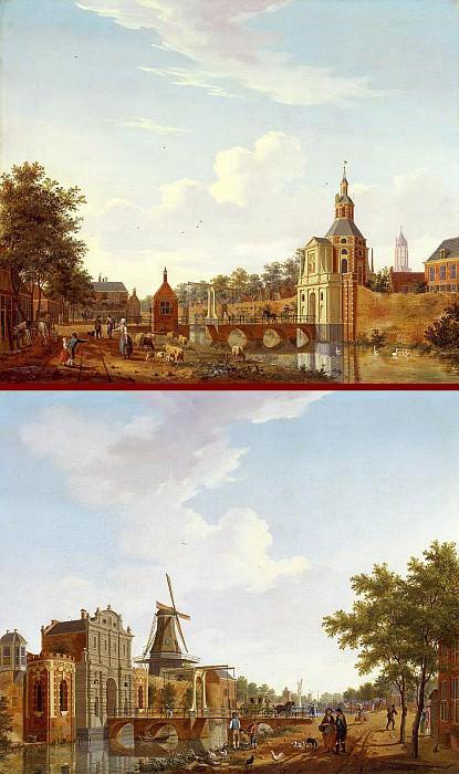 ISAAK OUWATER The Catharijnepoort in Utrecht and The Wittevrouwenpoort in Utrecht 11668 172. часть 3 -- European art Европейская живопись