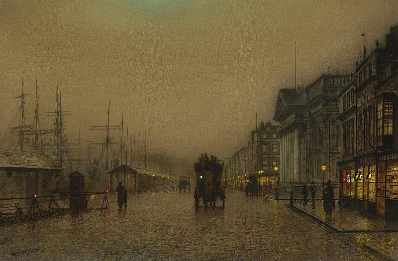 John Atkinson Grimshaw Salthouse Dock Liverpool 98579 20. часть 3 - европейского искусства Европейская живопись