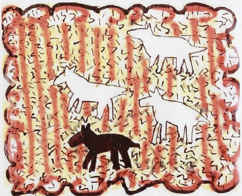 keith HARING Animals 87099 1146. часть 3 -- European art Европейская живопись