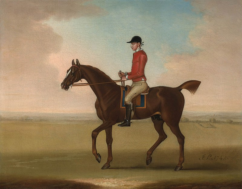 James Seymour Mr John Martindale's chestnut racehorse Sedbury with jockey up 28605 20. часть 3 -- European art Европейская живопись