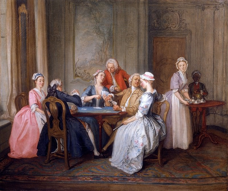 Hubert FranГ§ois Gravelot A Game of Quadrille 16523 308. часть 3 -- European art Европейская живопись