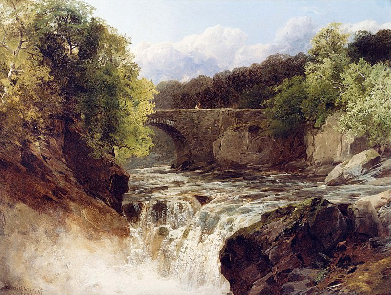 John Brandon Smith On the Dulas South Wales Waterfall near Neath South Wales 12257 2426. часть 3 -- European art Европейская живопись