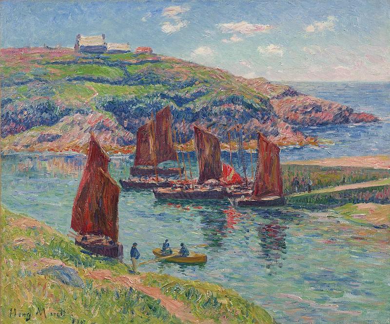 Henry Moret Basse mer Cote de Bretagne 28482 20. часть 3 -- European art Европейская живопись