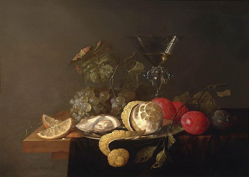 Jan Davidsz de Heem Still life with a peeled lemon 98681 20. часть 3 -- European art Европейская живопись