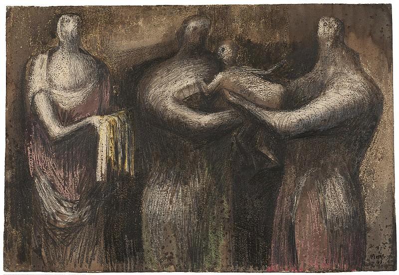 Henry Moore The Presentation 105859 20. часть 3 -- European art Европейская живопись