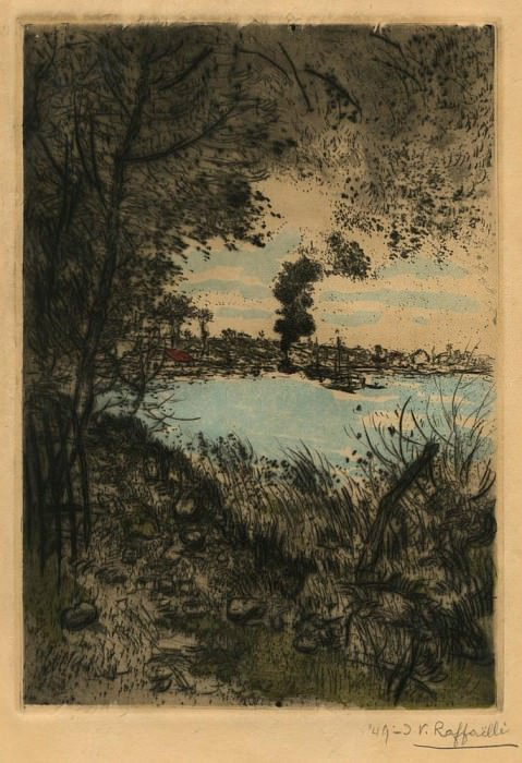 Jean FranГ§ois RaffaГ«lli La FumГ©e du Bateau – The Steam of the Boat 39997 1124. часть 3 -- European art Европейская живопись