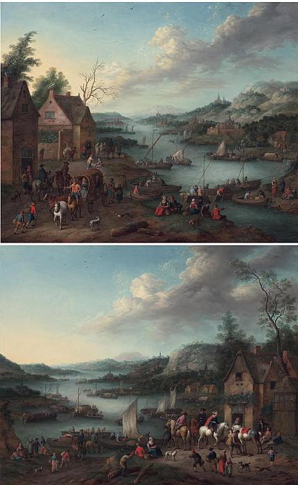 Jan Frans van Bredael the Elder River landscapes with boats 1592 20. часть 3 -- European art Европейская живопись