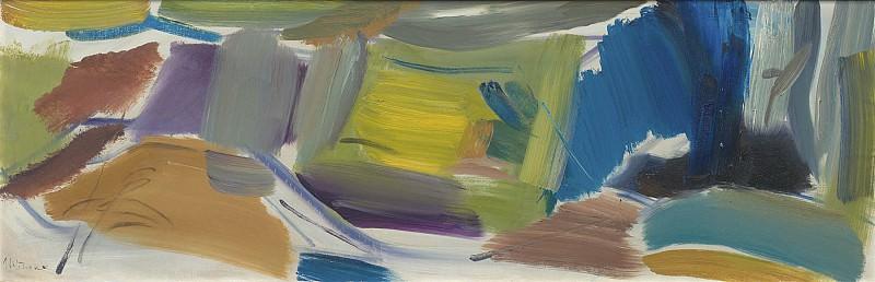 Ivon Hitchens Spanish Chestnut Yellow Distance 98819 20. часть 3 - европейского искусства Европейская живопись