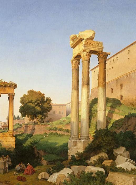 LANCELOT THEODORE TURPIN DE CRISSГ‰ COMTE DE View of the Roman Forum with the Temples of Vespasian and Saturn 11422 172. часть 3 -- European art Европейская живопись