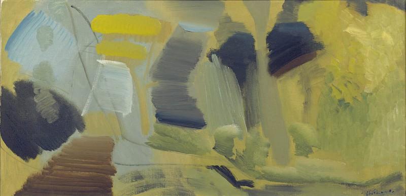 Ivon Hitchens Yellow Depths 98820 20. часть 3 - европейского искусства Европейская живопись