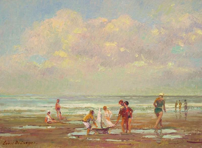 Louis DE SAEGER Beach scene 79979 617. часть 3 - европейского искусства Европейская живопись