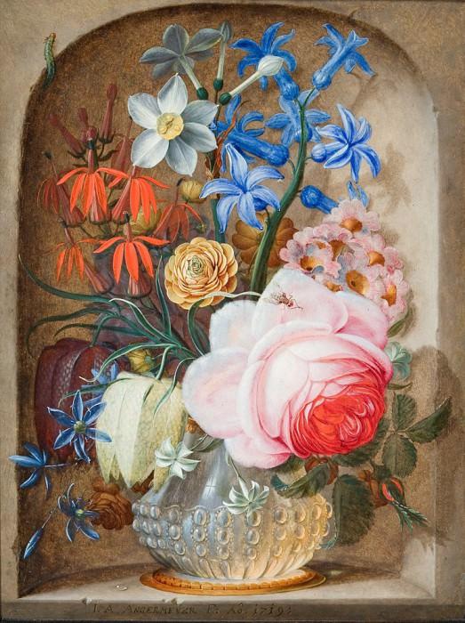 Johann Adalbert Angermeyer Flower Still Life 27001 268. часть 3 -- European art Европейская живопись