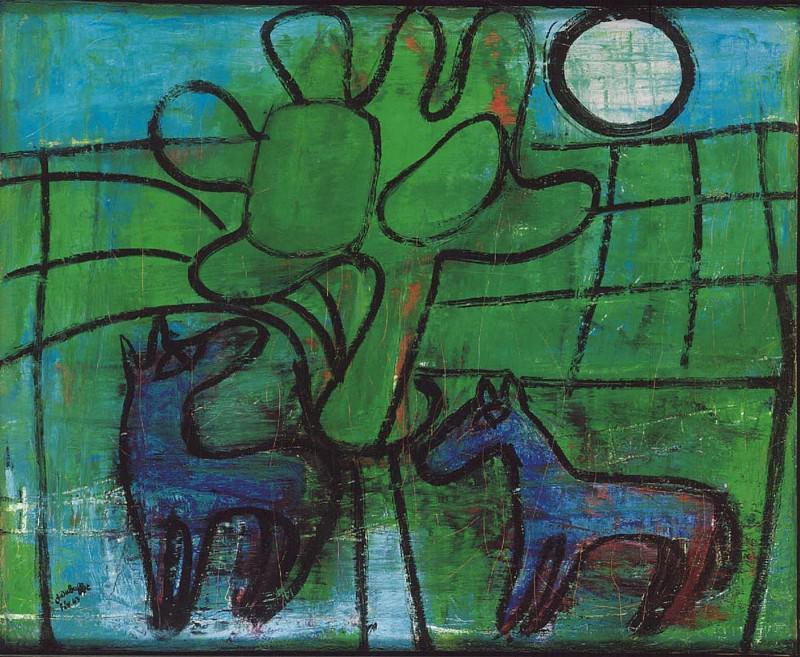 Jean Dubuffet Chevaux Г la lune 38743 1146. часть 3 -- European art Европейская живопись