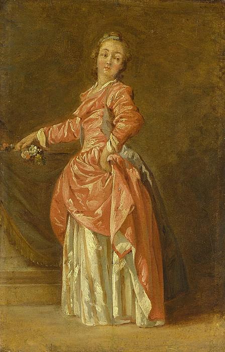 Jean Baptiste Le Prince A lady in a red dress in an interior 32010 184. часть 3 -- European art Европейская живопись