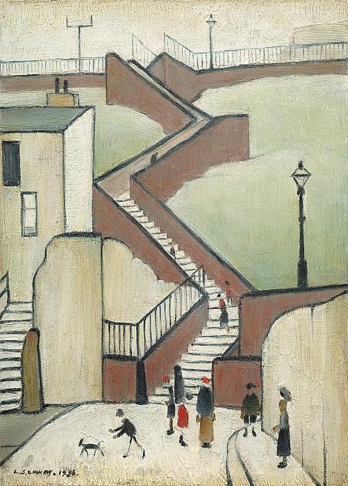 Laurence Stephen Lowry The Steps 40268 20. часть 3 -- European art Европейская живопись