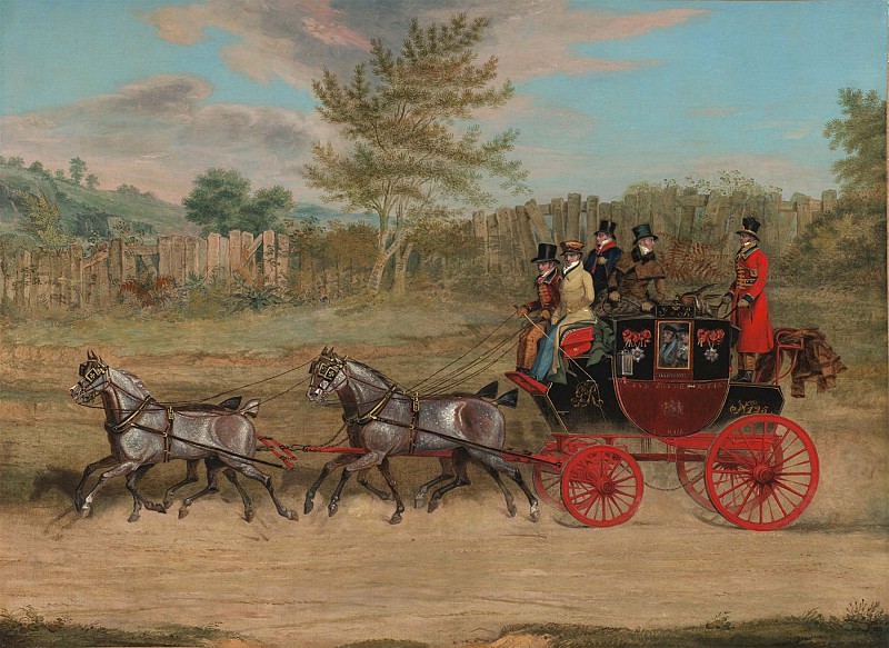 James Pollard The London to Hastings Royal Mail coach 28536 20. часть 3 -- European art Европейская живопись