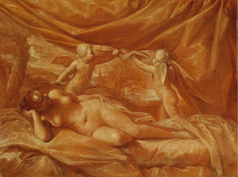 Lorenzo Pasinelli Venus and Two Cupids against a Landscape Background 18044 203. часть 3 -- European art Европейская живопись