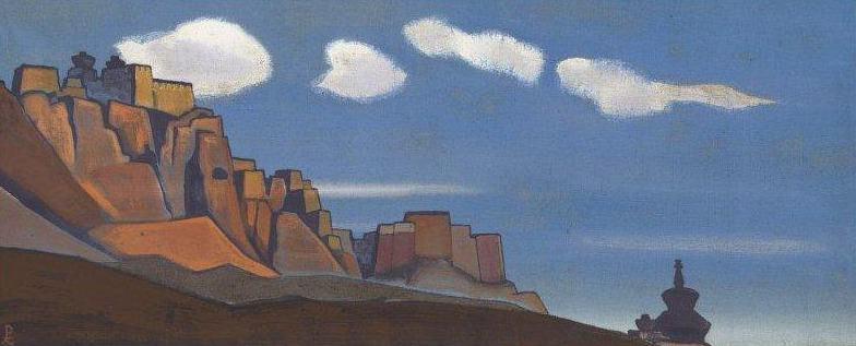 Stronghold Bonpos # 82 (Rock of Bon-Po). Roerich N.K. (Part 4)
