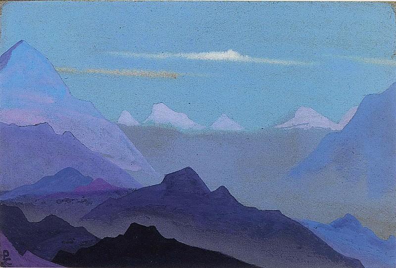 Himalayas. Twilight # 57. Roerich N.K. (Part 4)