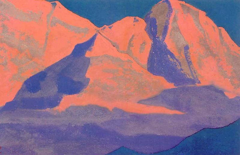 Evening snow # 9. Roerich N.K. (Part 4)