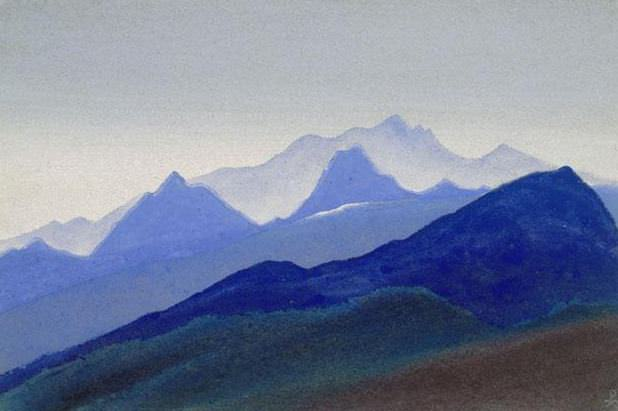 Himalayas # 86 A series of hot blue. Roerich N.K. (Part 4)
