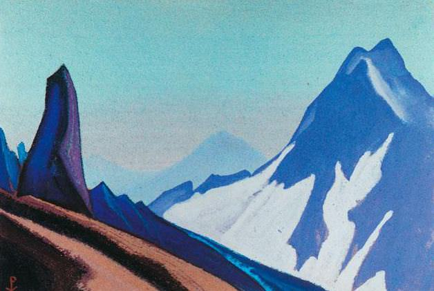 The Himalayas # 191 The Stone Guard. Roerich N.K. (Part 4)