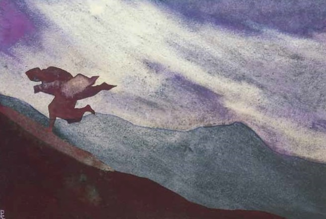 Storm (sketch for the painting) # 158 ( storm. sketch). Roerich N.K. (Part 4)