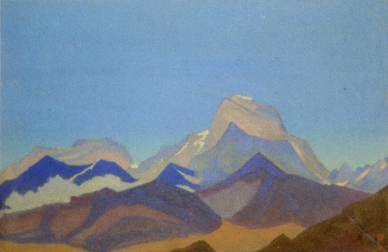 The Himalayas # 91 (Pre-dawn mountains). Roerich N.K. (Part 4)