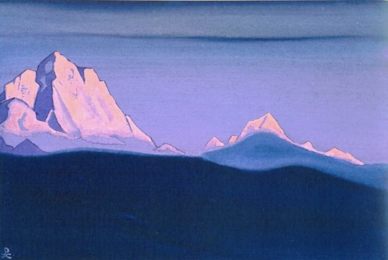 Evening (Pink vertex) # 136. Roerich N.K. (Part 4)