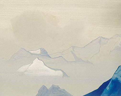 Священные Гималаи. Лист из альбома #12. Рерих Н.К. (Часть 4)