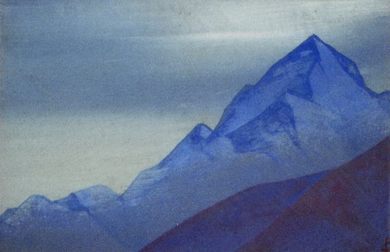 Himalayas # 82 Mountain peak. Roerich N.K. (Part 4)